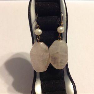 Pearl Pink Stone Earrings